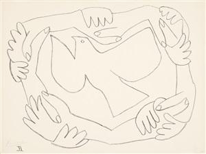 les mains liées, ii (die verschränkten hände, ii) by pablo picasso