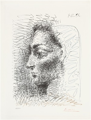 portrait de jacqueline (jacquelines porträt) by pablo picasso