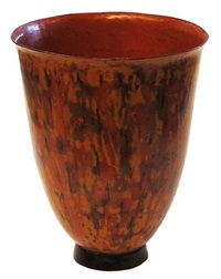 small lacquered cup by jean dunand