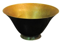 black and gold bowl by jean dunand