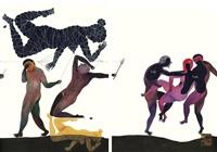 modern dance series 2 #17, series 1: #71 by balint zsako