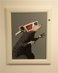 3d rat by banksy