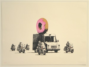 donuts (strawberry) by banksy