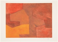 composition orange et rouge by serge poliakoff