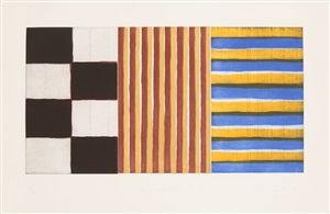 black red blue by sean scully