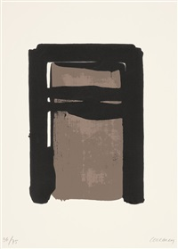 sérigraphie no. 10 by pierre soulages