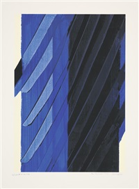 sérigraphie no. 19 by pierre soulages