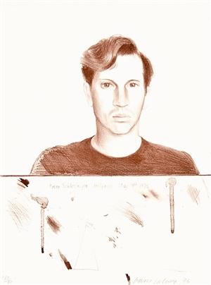 peter schlesinger by david hockney