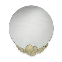 rare and beautiful round silvered bronze mirror by albert cheuret