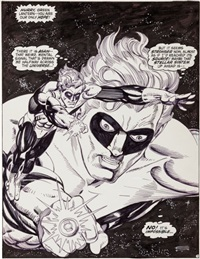 green lantern #156 splash page original art (dc, 1982) by gil kane