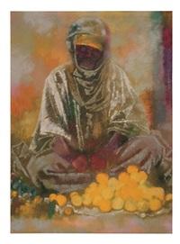 orangenverkäufer i / orange seller i by augusto giacometti