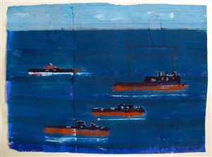 4 ships at sea by katherine bradford