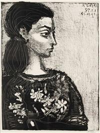 femme au corsage à fleurs by pablo picasso