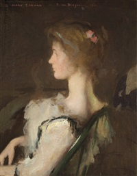 mary sullivan by frank weston benson
