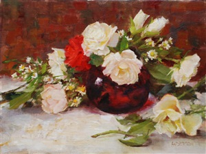ruby and roses by kathy anderson