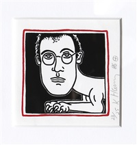self-portrait by keith haring
