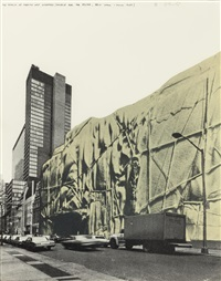 the museum of modern art wrapped (project for the moma, new york, june 1968) by christo and jeanne-claude