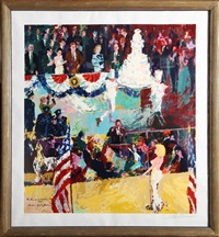 happy birthday mr. president by leroy neiman