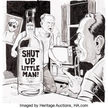 Coop Chris Cooper Shut Up Little Man Illustration Original