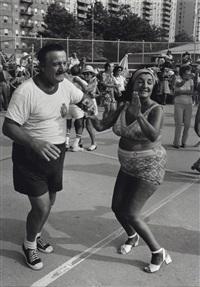 brighton beach, brooklyn, new york (dancing couple) by jerome liebling