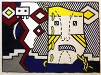 american indian theme v by roy lichtenstein