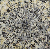 escalation ii (x squared + y squared = 1) for alexander grothendiek by jack whitten