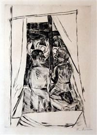 kinder am fenster (children at the window) by max beckmann