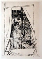 kinder am fenster (children at the window) by max beckmann