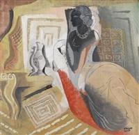 jeune femme dans un intérieur by béla kádár