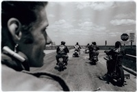 untitled (close up of cal on the road) by danny lyon
