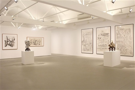 exhibition view contemporary ink art ota fine arts singapore