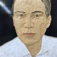 mann mit weißen hemd by stephan balkenhol