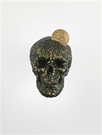 skull with cote d'or insignia by jan fabre