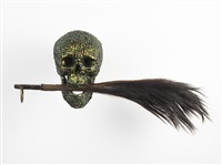 skull with flywhisk by jan fabre