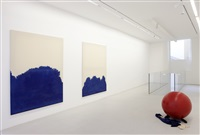"vue de l'exposition / view of the exhibition ""all around fades to a heavy sound"", kamel mennour, paris, 2014 by latifa echakhch"