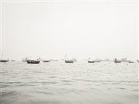 boats in fog (vietnam) by josef hoflehner