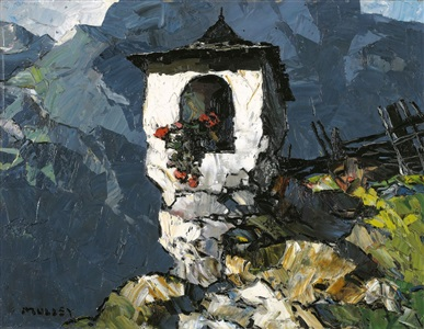 wayside shrine in the mountains by oskar mulley