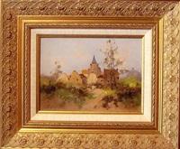 le chemin vers le village by eugène galien-laloue