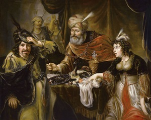 the feast of esther by johann spilberg the younger