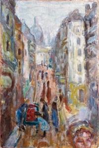 paris, rue tholoze by pierre bonnard