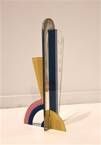 modern sculpture with apertures by roy lichtenstein