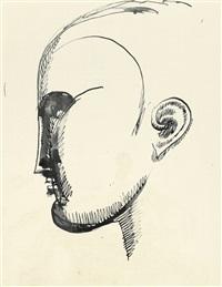 ideal male head (ideal self-portrait) by elie nadelman