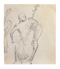 cello player by elie nadelman