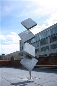 column of four squares excentric gyratory ii by george rickey