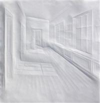 ohne titel (licht in flur mit türen) by simon schubert
