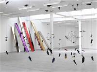installation view, jim lambie: answer machine, sadie coles hq, london by jim lambie