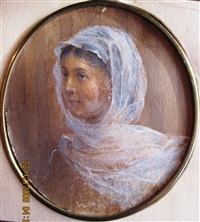 portrait of the artist's daughter, sofiya ivanovna kramskaya by ivan nikolaevich kramskoy