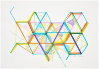 variation on a hexagon 7 by monir shahroudy farmanfarmaian