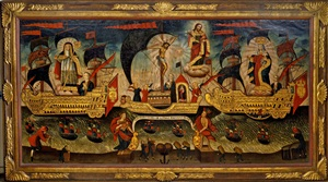 allegorical flotilla of salvation by peruvian school-cuzco