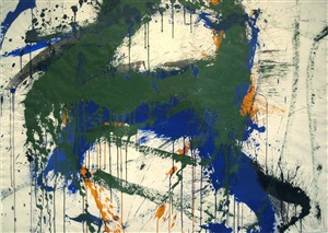 over and under blue by norman bluhm